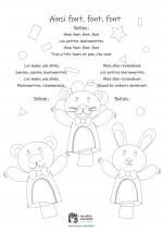 Comptine enfant 'Ainsi font, font, font' - coloriage