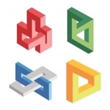 Les objets géométriques irréels 3D