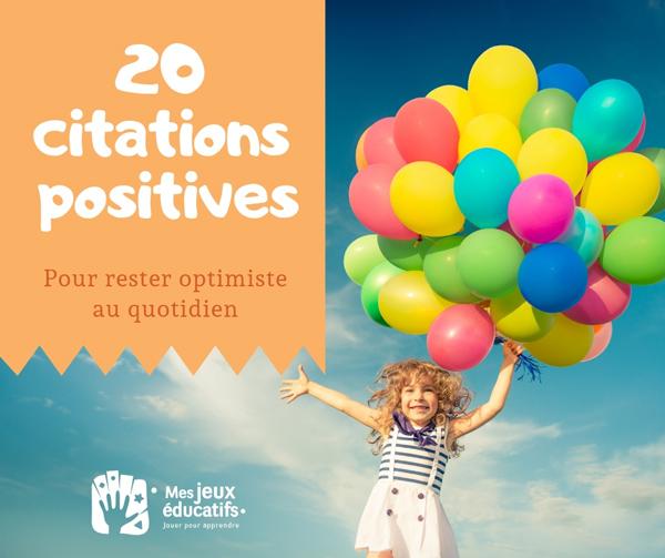 20 citations sur l'optimisme