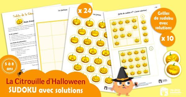 Jeu de sudoku Halloween à télécharger et à imprimer