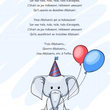 Comptine enfant \'Un éléphant qui se balancait\' - paroles