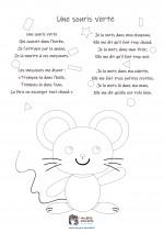 Comptine enfant 'Une souris verte' - coloriage