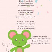 Comptine enfant \'Une souris verte\' - paroles, partition