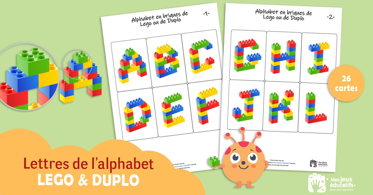Construire Les Lettres De Lalphabet En Lego Ou Duplo Mes