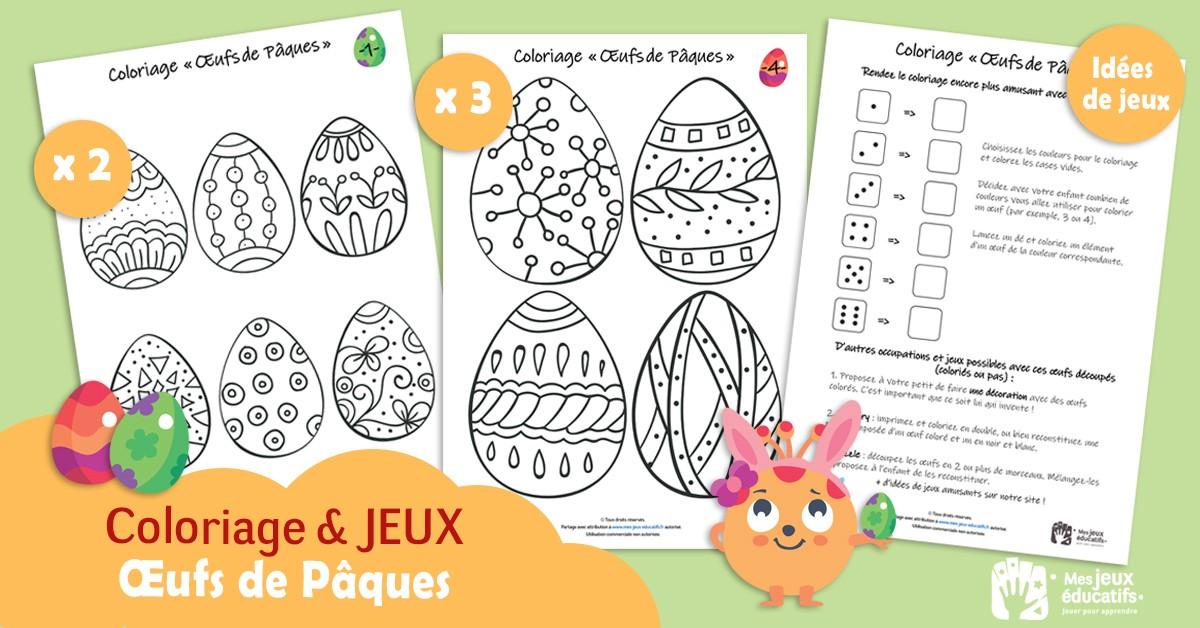 Coloriages Et Jeux Oeufs De Paques A Imprimer Mes Jeux Educatifs