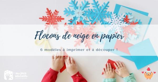 Modèles de flocons de neige en papier.