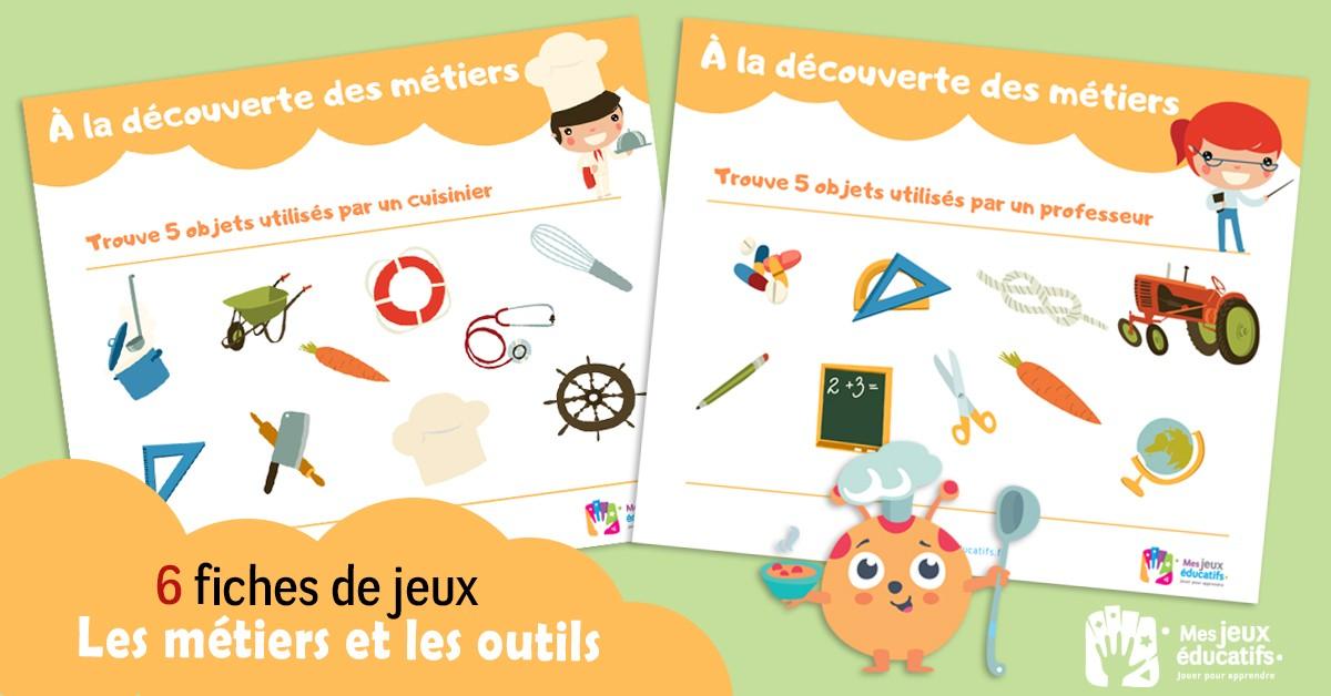 Cherche Et Trouve A Imprimer Metiers Et Objets Mes Jeux Educatifs